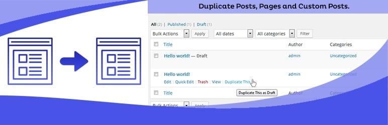 WordPress Duplicate Page Plugin
