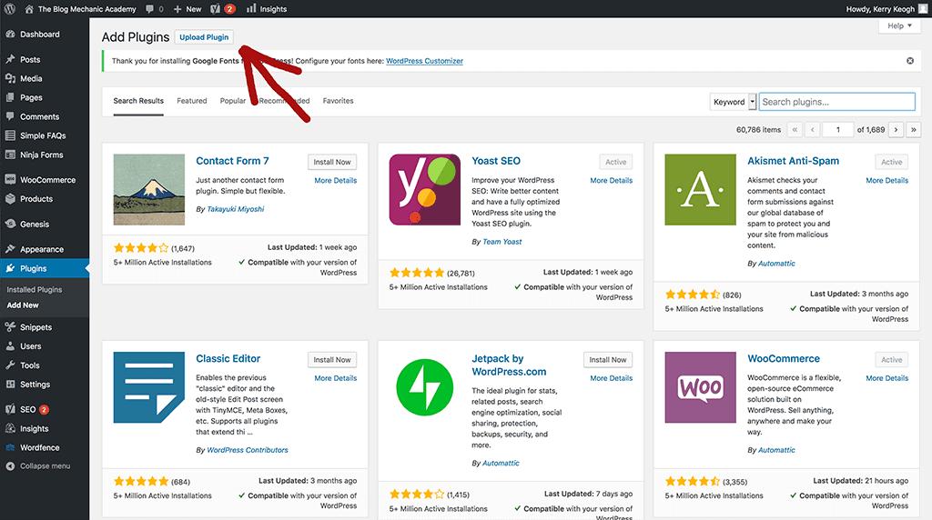 Install WordPress Plugins With Uploader