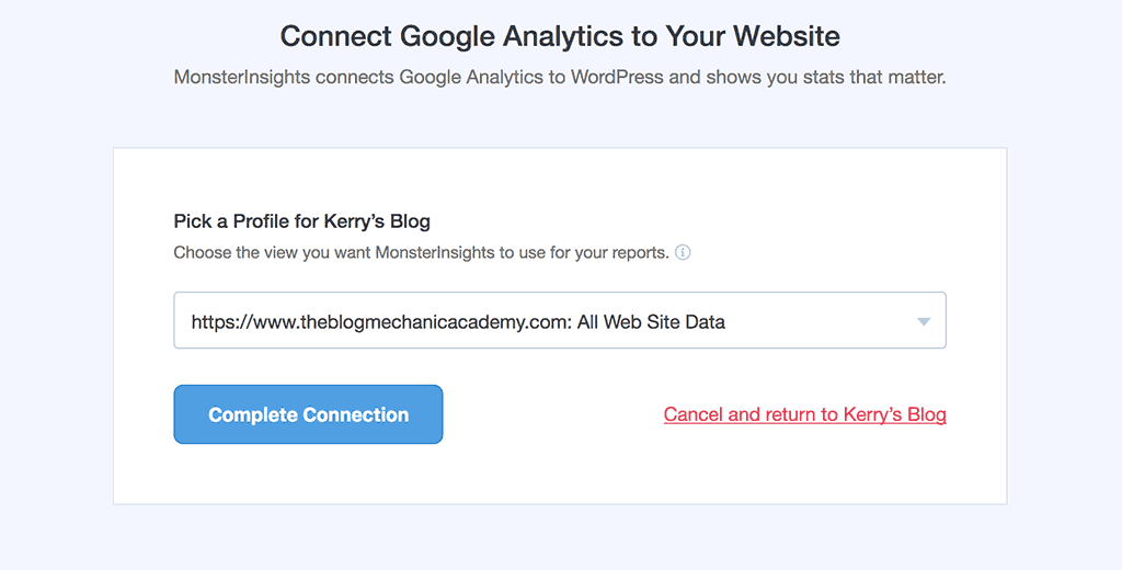 Final Step. Connect Google Analytics to Your WordPress website