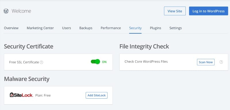 Bluehost settings to add the free SSL certificate to your WordPress blog