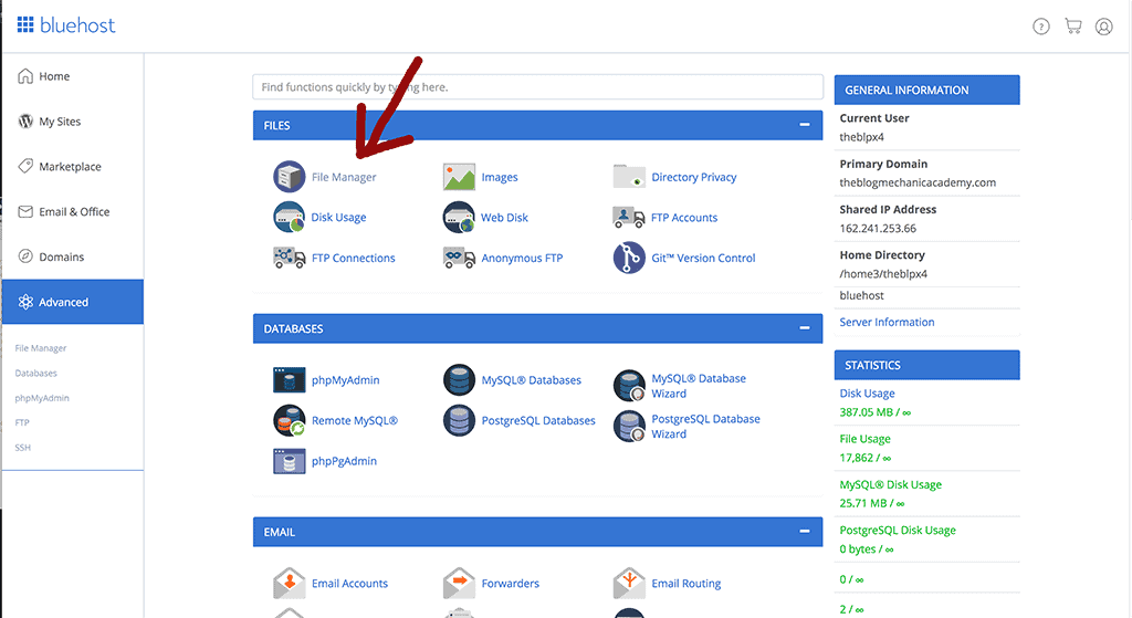 install WordPress Plugins with cPanel