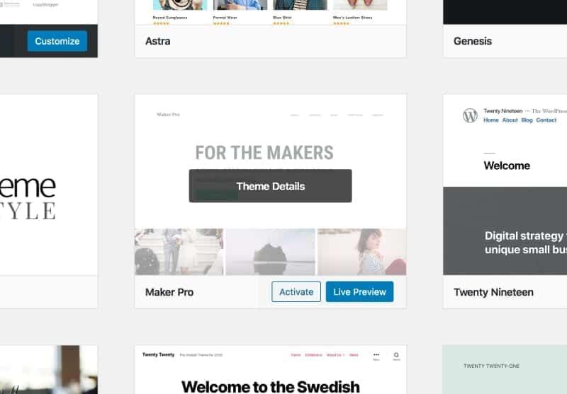 Active new WordPress theme