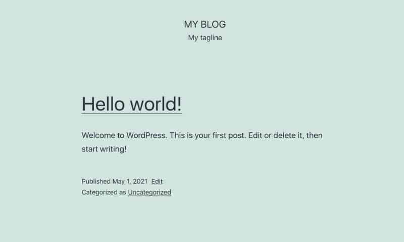 The Twenty Twenty-One WordPress theme