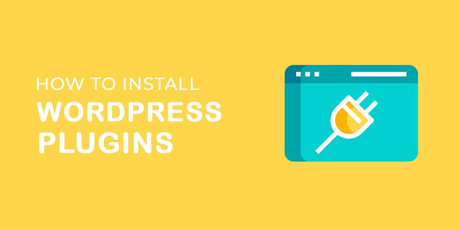 text and image saying install WordPress plugins