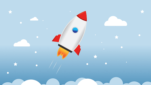 picture of a rocket to demonstrate a lightweight WordPress theme