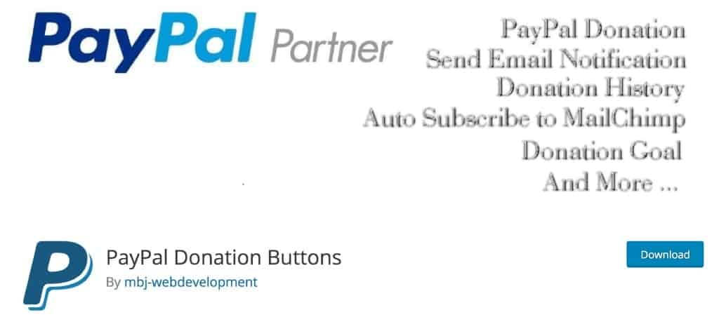 PayPal Donations Button Plugin