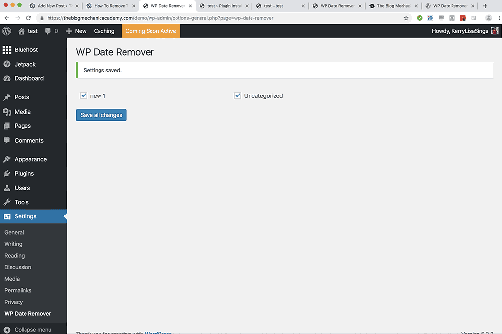 remove date from WordPress posts