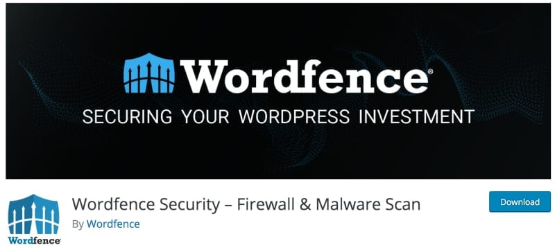 Image of the Wordfence security plugin
