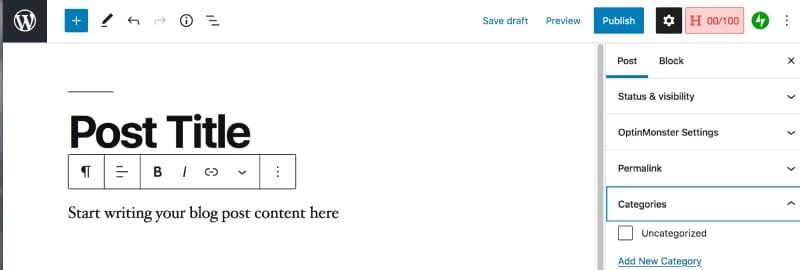 WordPress Gutenberg Editor