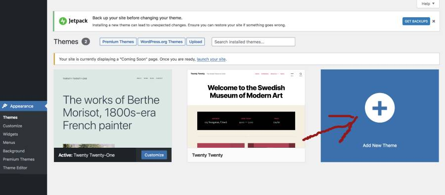 add a new website theme