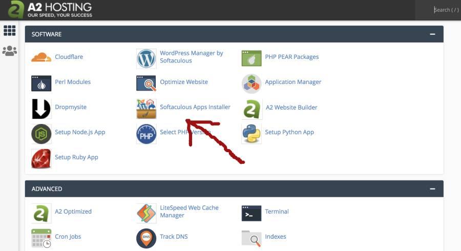 softaculous website installer