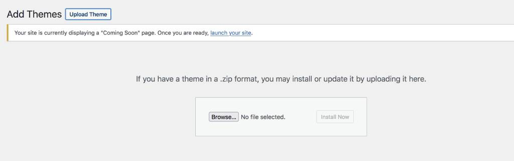 upload theme zip file